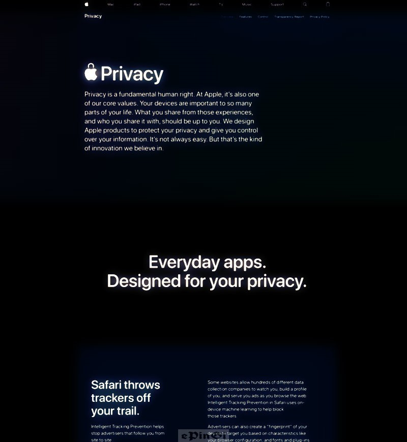 new privacy pages