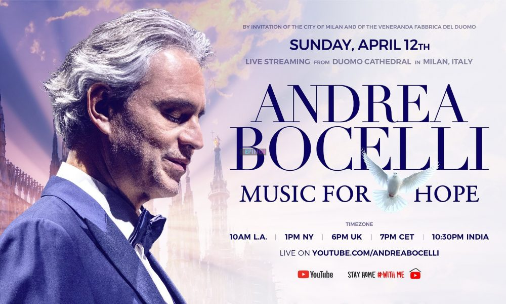 """Coronavirus, at Easter Andrea Bocelli in concert at the Milan Cathedral: """"I believe in the strength to pray together"""""""