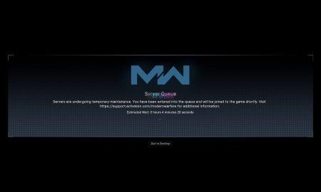 Call of Duty Modern Warfare Down Warzone Server Queue issues update Server Maintenance